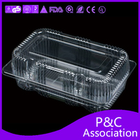 Environmental protection disposable plastic box transparent Fast food packing boxes fruit box