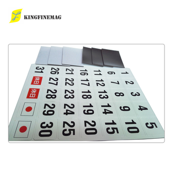 self magnetic small mat with silk screen printing .double side magnetized,soft magnect.all kinds of lamination