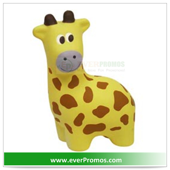 PU Material Giraffe Stress Reliever For Promotion