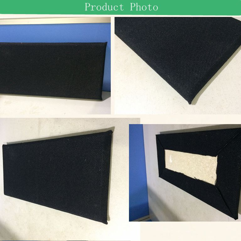 black fireproof decorative fabric acoutic gypsum board for fasle ceiling insulation wall panel pop ceiling design
