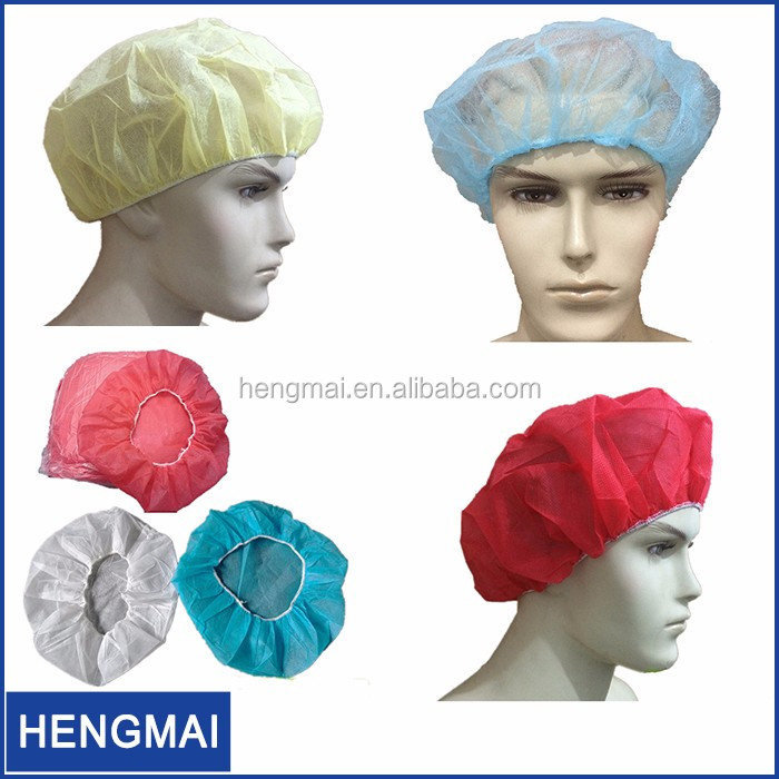 Non Woven Disposable Surgical Bouffant Scrub Hats Surgical PP Head Cover with Elastic