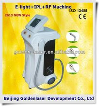 www.golden-laser.org/2013 New style E-light+IPL+RF machine nono hair shaver/epilator head/trimmer new model