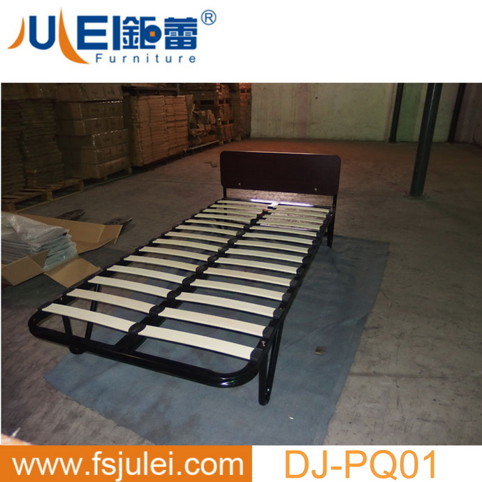 durable strong platform metal bed frame with wood slat support and MDF headboard DJ-PQ01