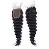 Morein 10A Unprocessed Deep Wave Closures Human Hair Transparent Lace Closure Cuticle Aligned Virgin Hair