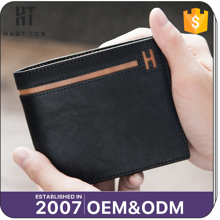 China Guangzhou Professional Men Genuine Top Cow Leather Wallets High Quality Popular Vintage Man Horizontal Card Wallets