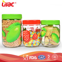 Wholesale Straight shaped food grade large hand-blown low borosilicate glass nuts storage jar