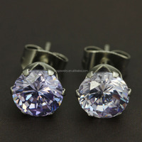 Vogue Stainless Steel Fashion Unique Designs CZ Stone Bridal Earrings for Female Wedding Jewelry