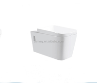 China factory sale round wall hung combine toilet and bidet wc toilet sanitary
