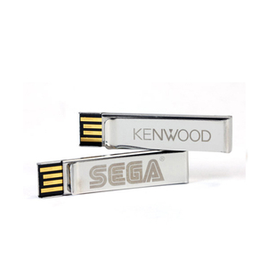 Metal Paper Clip USB Stick 4GB with Customized Logo