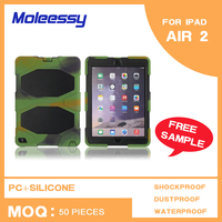 Manufacturer hot selling case cover for ipad Air/ipad 5 tough case, for ipad air shockproof case