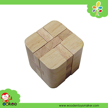 wooden brain teaser 3d cubic puzzle blocks, funny cube iq game iq toy