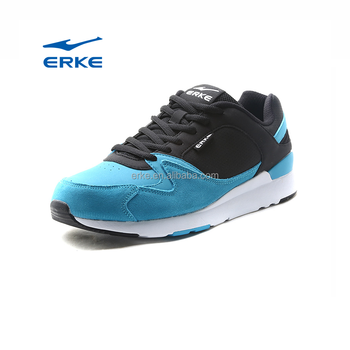 ERKE 2017 China high quality wholesale suede PU mens sneaker running shoes sports shoes