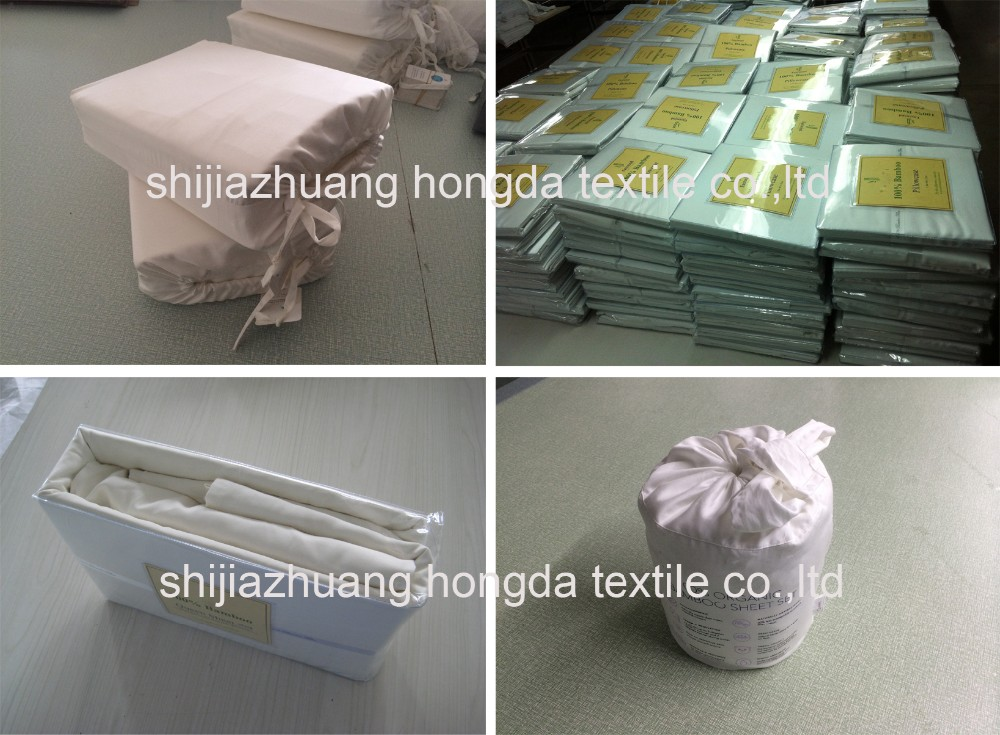 100% organic bamboo sheet set/pure bamboo bed sheets Wholesale