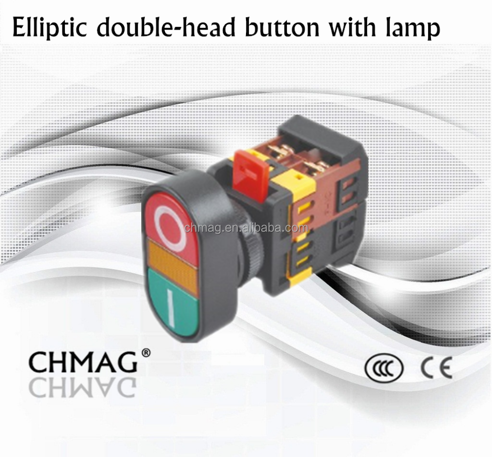22mm 25mm 30mm Double-Head Button with Lamp 660V 10A Switch