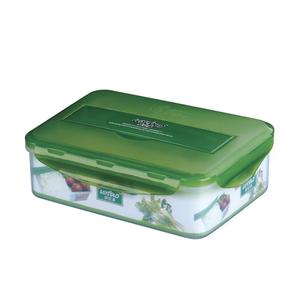 Microwave clear plastic food warmer lunch box with spoon