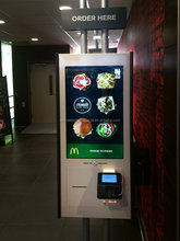 self payment/order terminal kiosk for fast foods shops