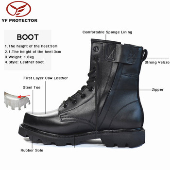 miliraty combat leather boots/mens waterproof military shoes
