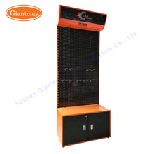 Retail store shop mobile cell phone hanging accessories display rack metal shelf board unit stand