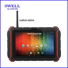 gyroscope ip67 1G+16G 8inch rugged PAD GLONASS GALILEO terminal with walkie talkie PTT fingerprint NFC big battery T82