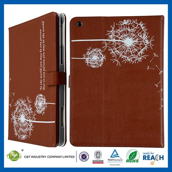 New fashional cheaper rock leather case for the new ipad