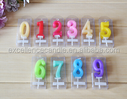 number & letter birthday candle