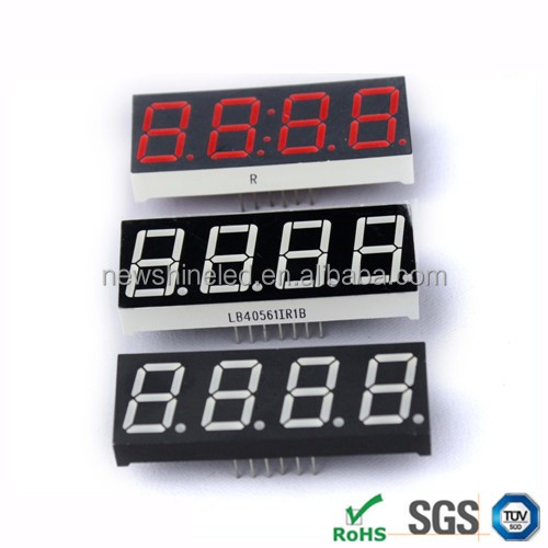 Red large 7 segment led display 0.80 inch led digital display 4 four digit numeric led display for electronic message boards