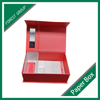PVC window wholesale corrugated cardboard box gift for hair extension packaging