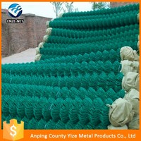 New design high quality green pvc coated chian link fence made in China