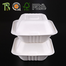 Hot Selling Square Clamshell Bagasse Tableware