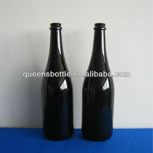 black champagne glass bottle