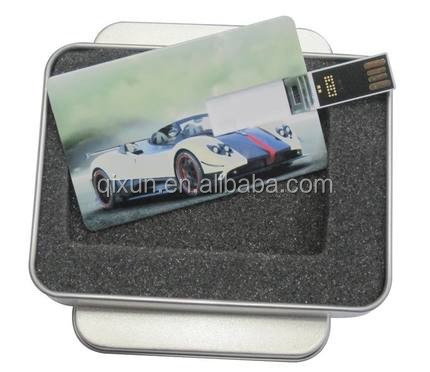 1gb 2gb 4gb 8gb 16gb 32gb card shape usb flash memory stick, blank credit card usb flash drive