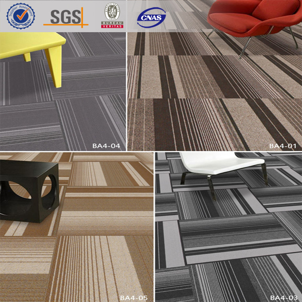Stripe Commercial PVC Backing Carpet Squares