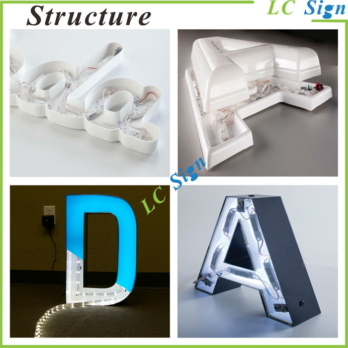 3d Letter Led Backlit Embossed Metal Sign Buy Backlit