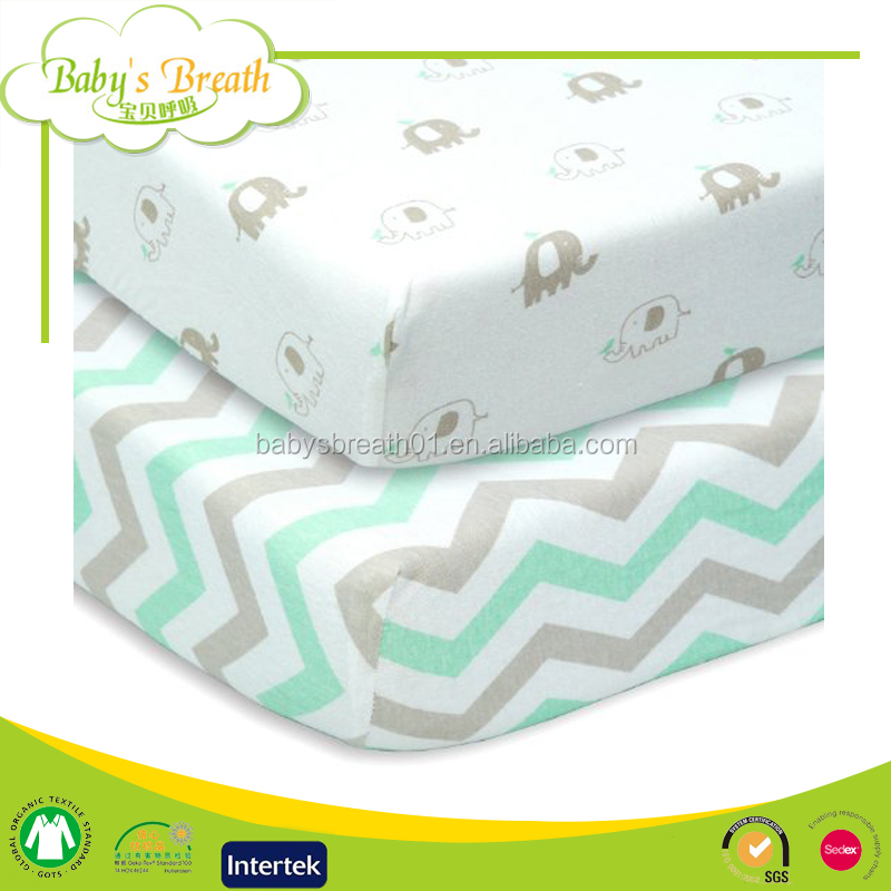 MSR-05 Anti-bacterial Good Price Organic Cotton Baby Muslin Fitted Crib Sheet