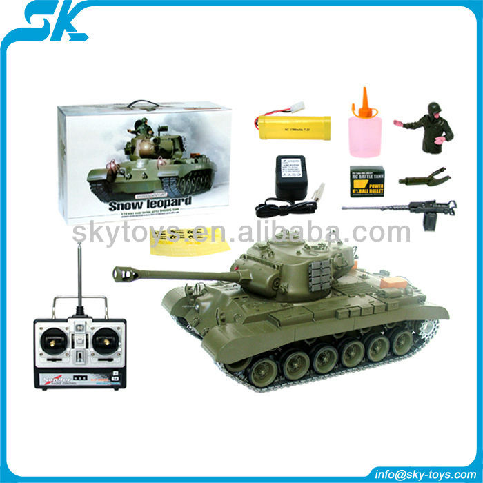 HOT!! HL 3838-1 1/16 Scale Snow Leopard M26 Airsoft RC Tank remote control car