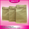Hot seal square bottom brown kraft paper packaging bag