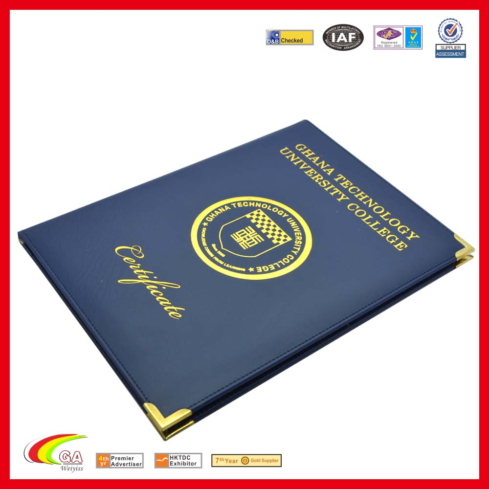 cheap price leatherette diploma Cover - Custom Expandable Folders Certificate Cover