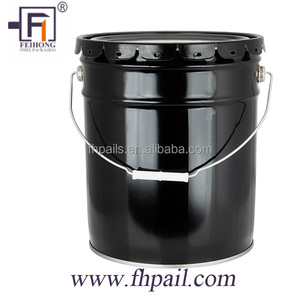 20 liter/litre stainless steel metal tin drum/pail/can/bucket/container with spout lid and handle