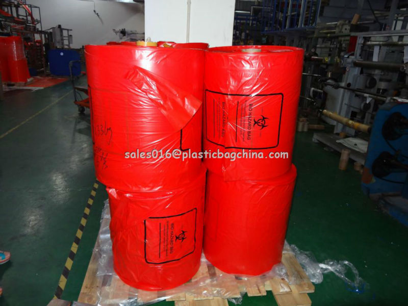 pedicure liner round bottom bag medical waste bag /medical garbage bag