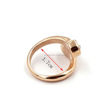 DongGuan Factory Openable Design Clear Stone Ring Adjustable Jewelry Women Rose Gold Stainless Steel Costume Rings