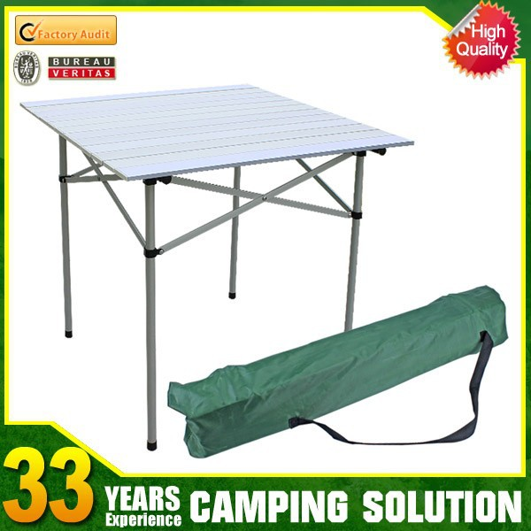 Portable picnic outdoor camping aluminum folding table