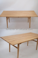 Replica Solid wood Danish style rectangle CH327 dining table for 9-10 people by Has J.Wegner for dining room