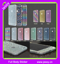 JESOY Hot Sale Full Body Glitter Sticker Cover Wrap Skin For iPhone 5 6 6s