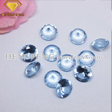 Round Brilliant Cut 104# Blue Spinal Stone