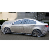 Dust Proof Transparent Pe Car Cover For Transport Using