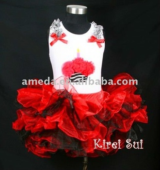 Red Black Layered Tutu 223
