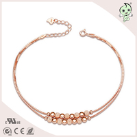 14K gold plated attraction style sterling silver anklet