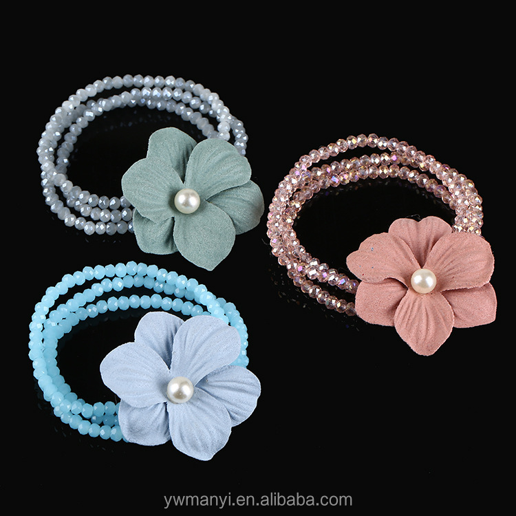 2017 New fashion flower charm women's bracelet trendy multilayer chain braide beaded bracelets