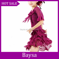 Fashion Clothes High Quality Children Sequine Costume Children Latin American Dancing Dresses kids latin dance dress BC505