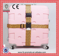 Polyester Travel Luggage Belt With Leopard Printing